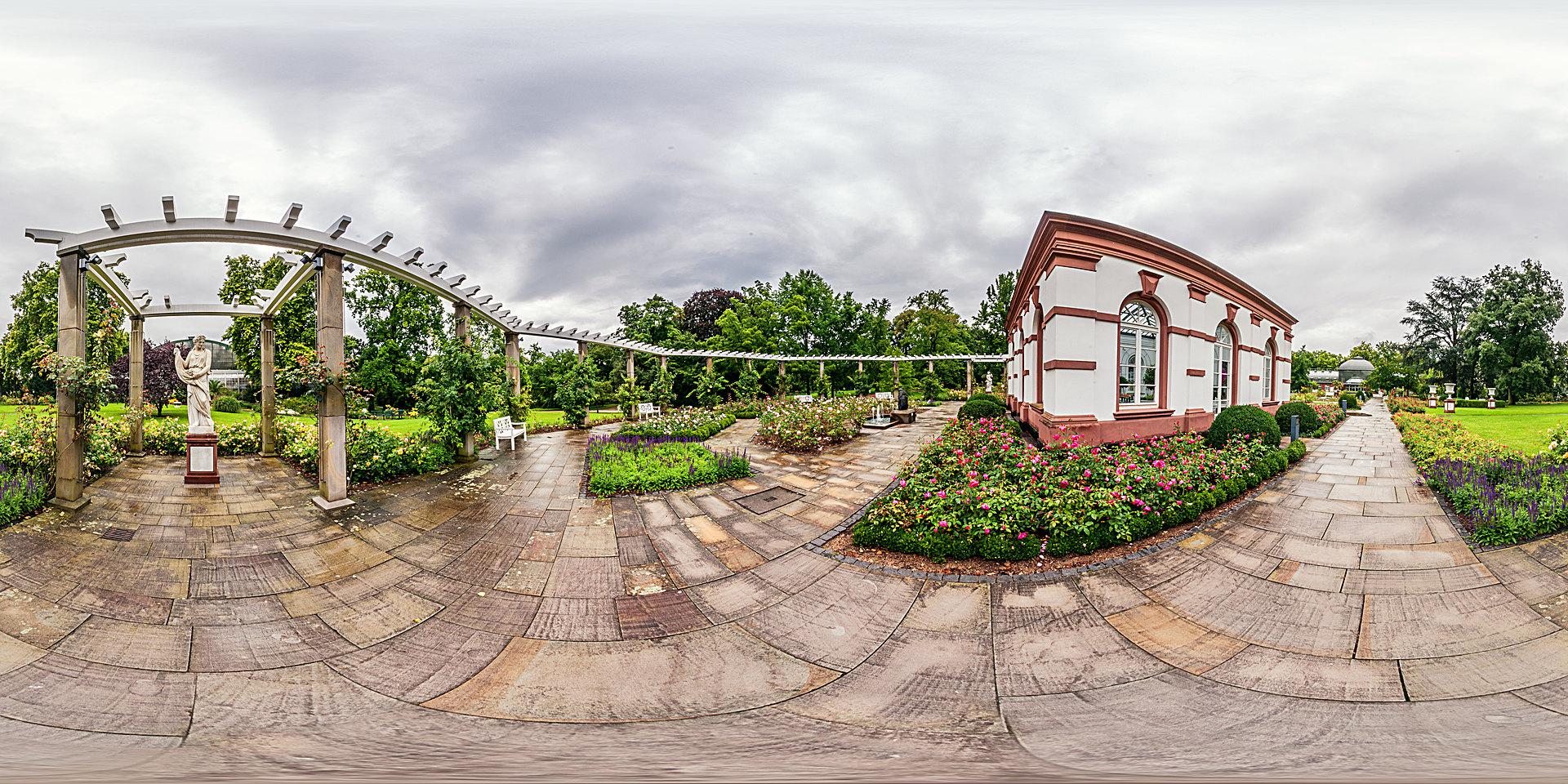 Palmengarten Frankfurt – Haus Rosenbrunn im Rosengarten